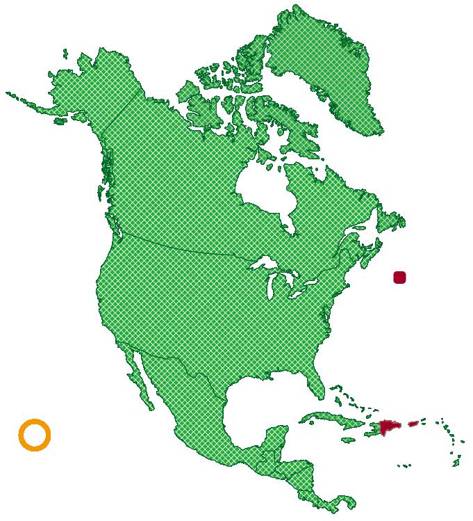 アメリカドクトカゲ生息域